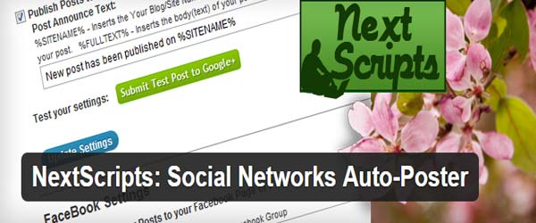 Nextscripts: Social Network Auto-Poster - Share Posts Automatically