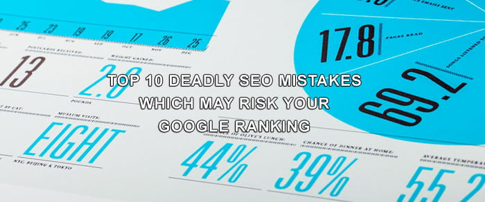 Top 10 Deadly SEO Mistakes Which May Risk Your Google Ranking