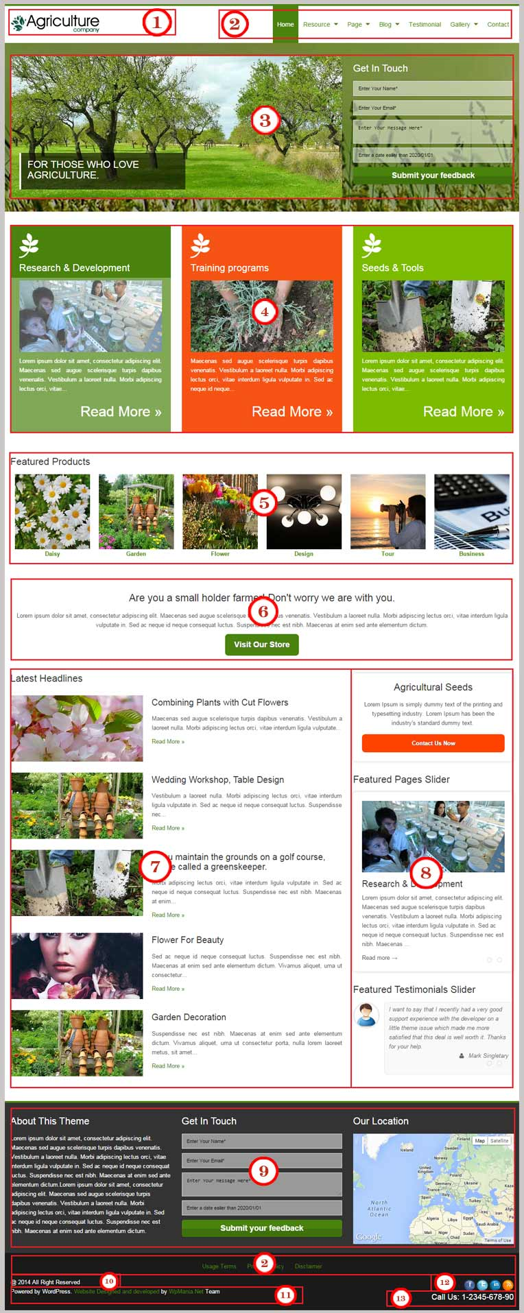 Agriculture WordPress Theme Documentation
