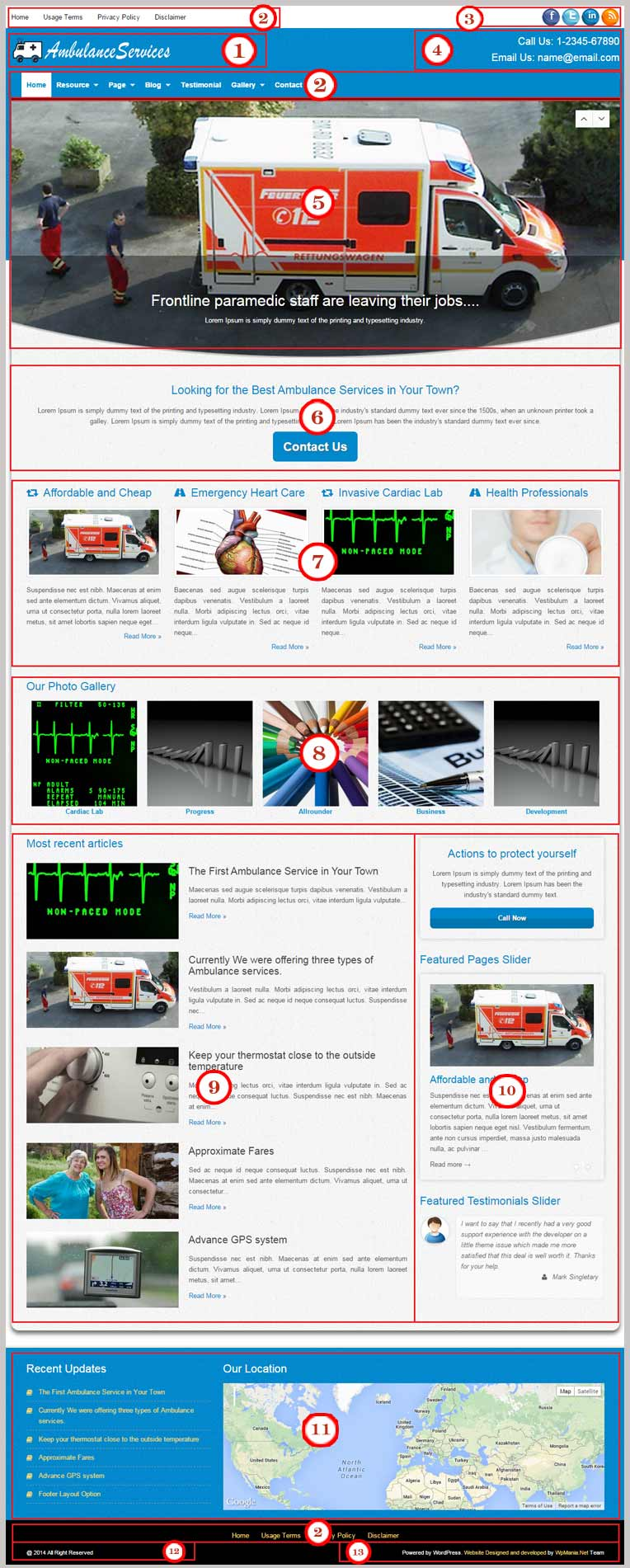 Ambulance Services WordPress Theme Documentation