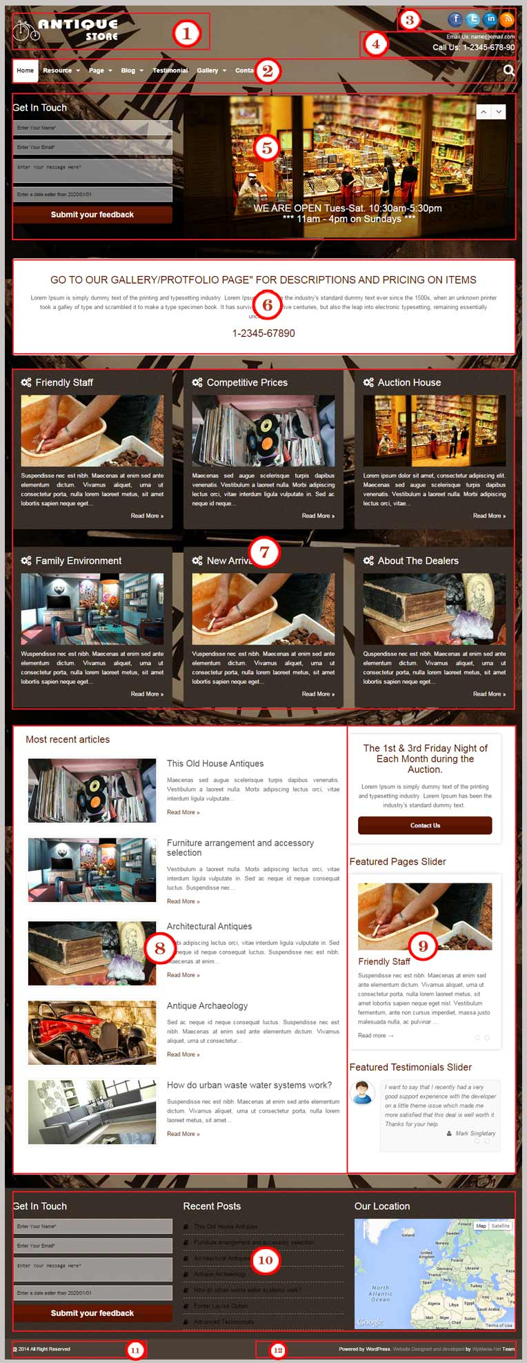 Antique Store WordPress Theme Documentation