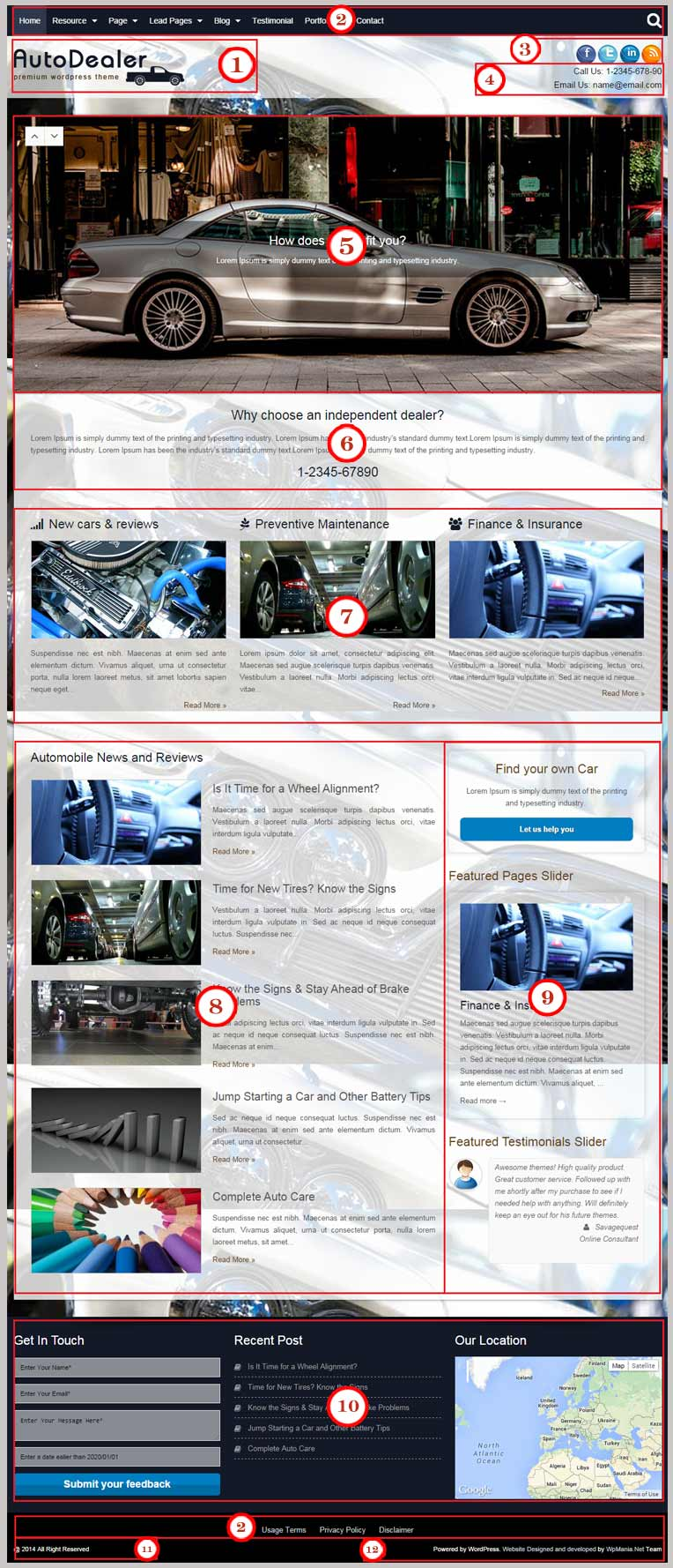 Auto Dealer WordPress Theme Documentation