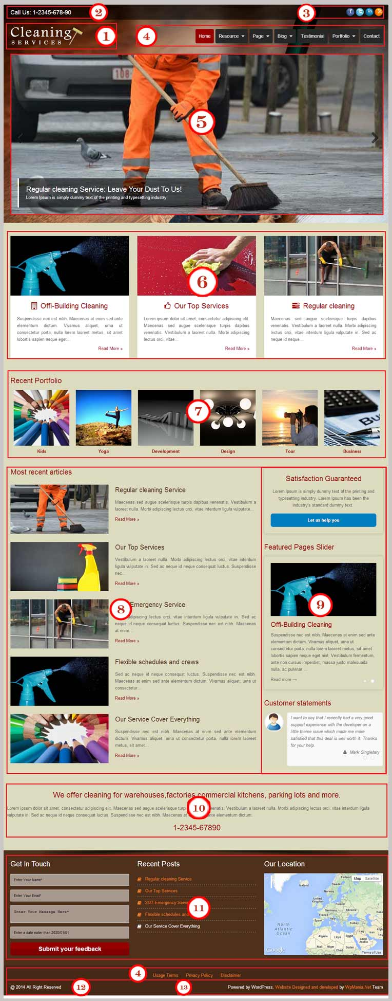 Cleaning Service WordPress Theme Documentation