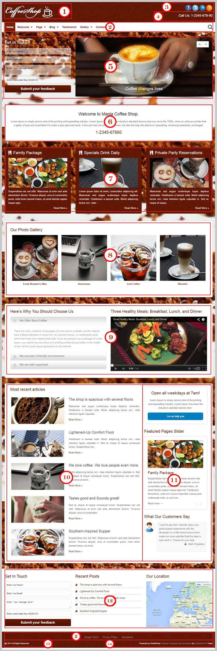 Coffee Shop WordPress Theme Documentation