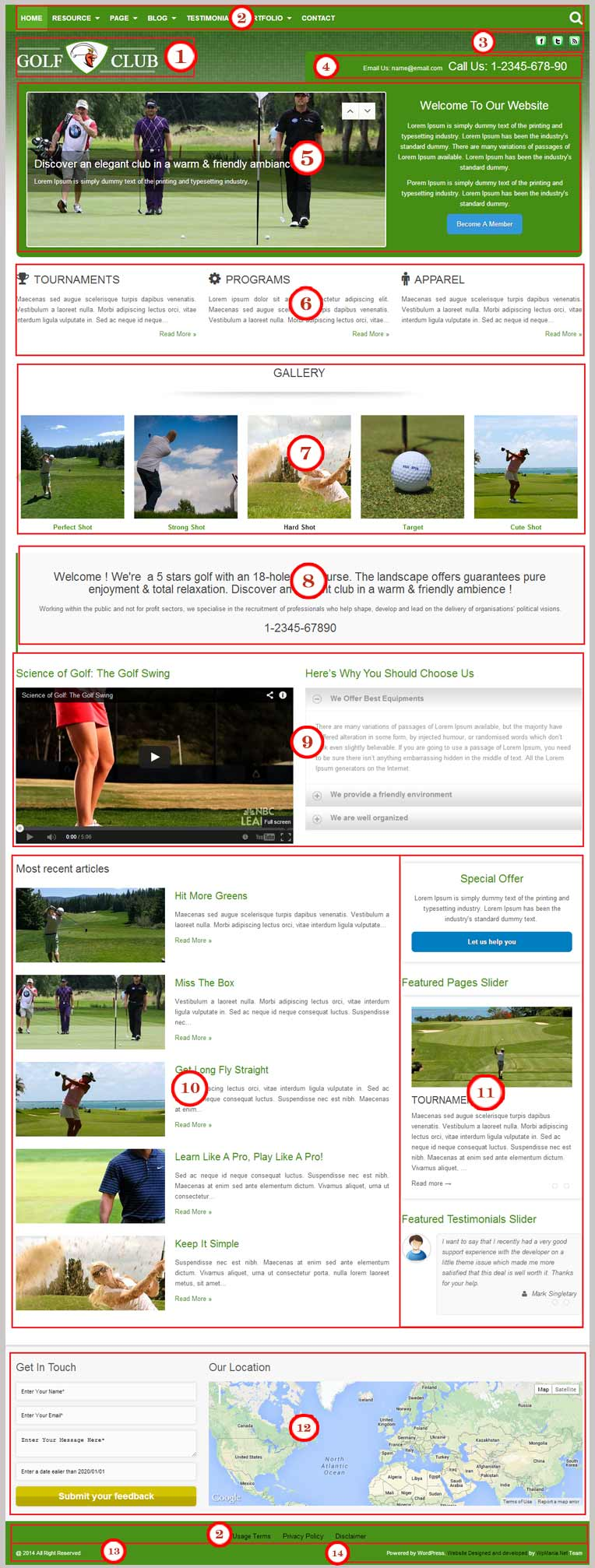 Golf WordPress Theme Documentation