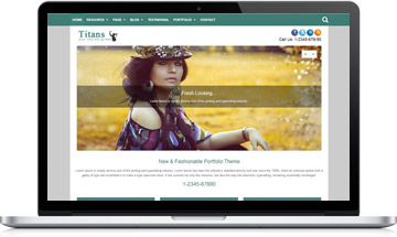 Titans Portfolio WordPress Theme