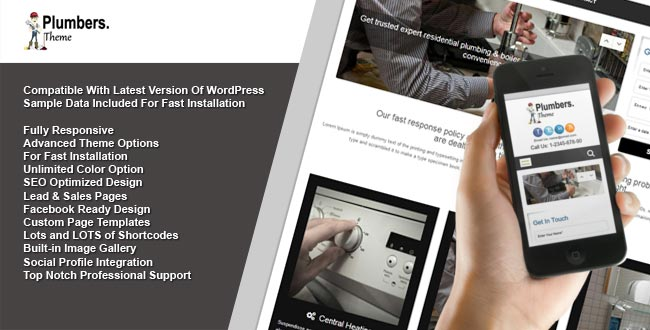 Plumbers WordPress Theme