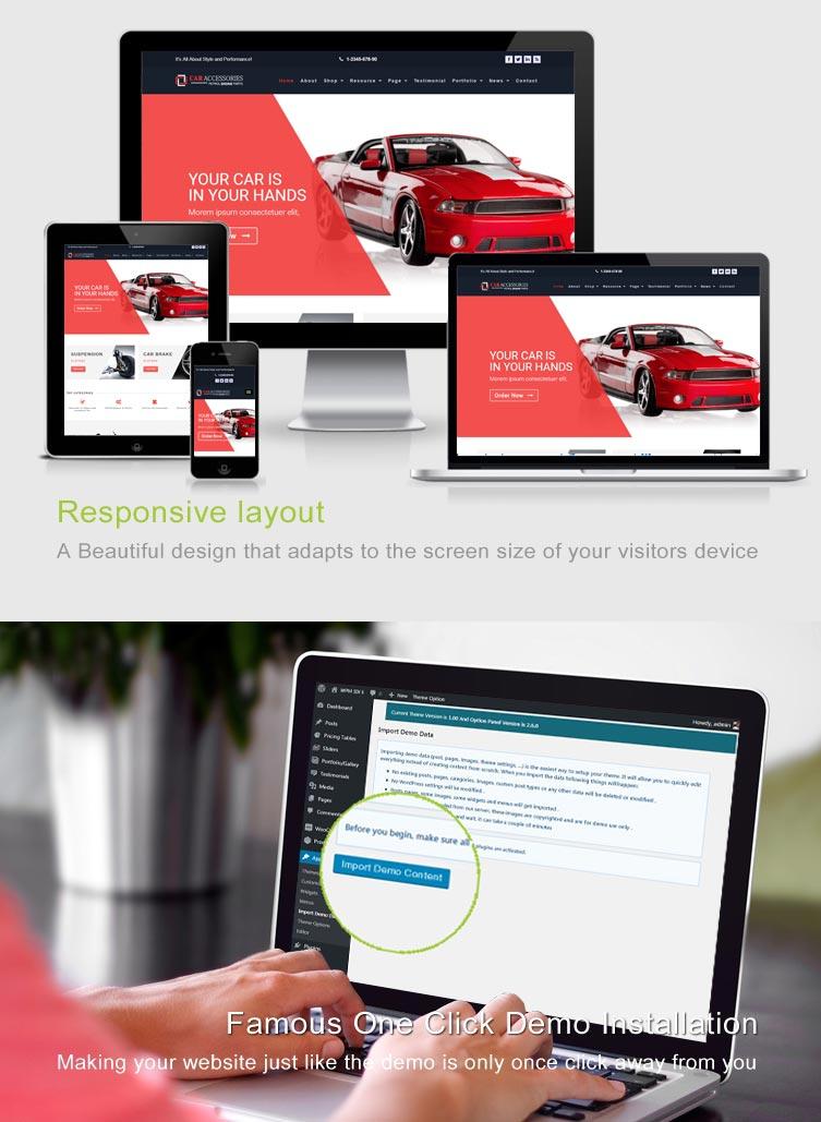 Car Accessories WooCommerce WordPress Theme - Vehicles Parts ...