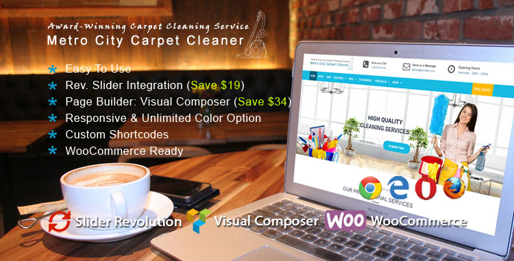Carpet Cleaner WordPress Theme : Website Template For Cleaning ...