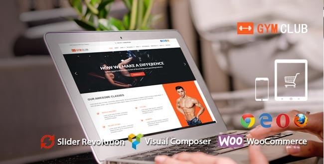 GymClub – Gym and Fitness WordPress Theme
