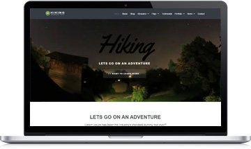 Hiking WordPress Theme – Adventure, Tours & Travel Website Template