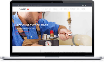 Plumber WordPress Theme : Website Template For Plumbing