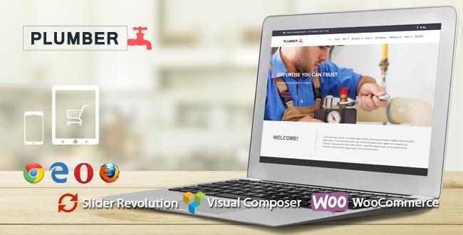 Plumber WordPress Theme : Website Template For Plumbing