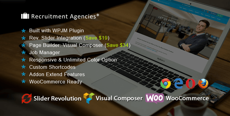 Recruitment Agencies WordPress Theme