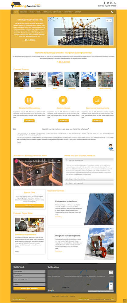 Building Contractor WordPress Theme