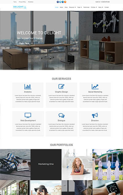 Delight – Corporate Business WordPress Theme