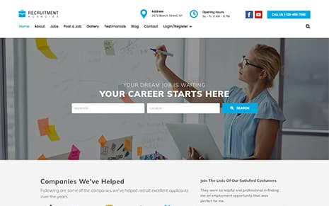 Recruitment Agencies WordPress Theme Version 8 Released